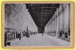 """ITALIE PISE CAMPOSANTO PISA """" La Route Des Fresques """" Animée Photografia CIRCA 1880  """"R & J D """" - Lieux"""