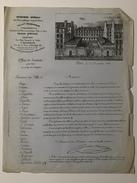 JALLOT-TABOUREUX   (Locations Pour Fêtes Bals Et Concerts) Offre De Service Datée Du 15 Novembre 1853 - Frankrijk
