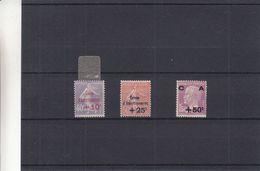 France - Yvert 249 / 51 * - MH - Caisse D'amotissement - Valeur 107 Euros - Pasteur - France
