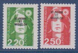 S.P.M.-1991-N°552/553** MARIANNE DU BICENTENAIRE - St.Pierre Et Miquelon