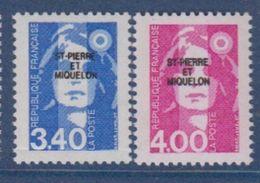 S.P.M.-1992-N°555/556** MARIANNE DU BICENTENAIRE - St.Pierre Et Miquelon