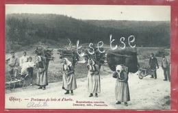 Chiny ... Top Carte - Porteuses De Bois Et D'herbe - 1906 ( Voir Verso ) - Chiny