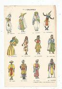 Chromo , 17 X 26 , Ed : Vaubaillon , COLONIES , 12 Personnages , Folklore , Frais Fr : 1.55 € - Kaufmanns- Und Zigarettenbilder