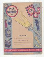 Protége Cahier Illustré , PILE WONDER , 2 Scans , Frais Fr : 1.55 € - Book Covers