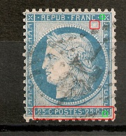 Cérès 25c Type II N° 60 B,  Belles Variétés, A PLANCHER. - 1871-1875 Ceres