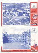 BUVARD , Lot De 2 Buvards , MAZDA CIPEL , Châteaux De BLOIS Et De SALCES , Frais Fr : 1.55 € - Buvards, Protège-cahiers Illustrés