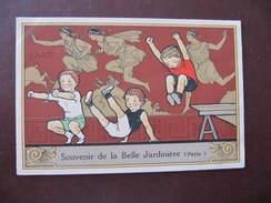 CPA - SOUVENIR DE LA BELLE JARDINIERE - SAUT - ENFANTS - Werbepostkarten