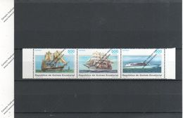 GUINEA ECUATORIAL Nº 343 AL 345 - Bateaux