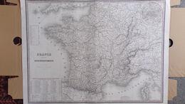 CARTE FRANCE DIVISEE EN 86 DEPARTEMENTS PARIS 1851-EDITEUR J. ANDRIVEAU GOUJON -21 RUE DU BAC- - Geographical Maps