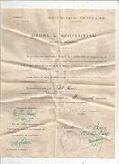 Ordre De Réquisition , Billet De Logement De 4 Personnes , Vienne , Cachet Mairie De ROUILLE , 1939 - Vieux Papiers