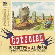 Buvard Biscottes Gregoire Les Alignements De Carnac Morbihan - Biscottes