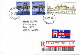 Sweden Registered Cover Sent To Malmö Kista 6-7-1999 - Sweden