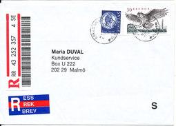 Sweden Registered Cover Sent To Malmö Eskilstuna 21 -7-1999 - Sweden