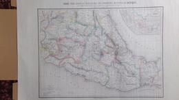 RARE CARTE POUR SERVIR INTELLIGENCE OPERATIONS MILITAIRES MEXIQUE-DE HUMBOLDT E. DESBUISSONS 1862-GUERRE -GARCIA Y CUBAS - Cartes