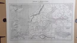 RARE CARTE NORVEGE-DANEMARK-ANGLETERRE-ALLEMAGNE-SAINT PETERSBOURG KRONSTADT-POLOGNE-FINLANDE-COURLANDE-LIVONIE-CARELIE - Cartes