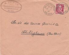 Env Affr Y&T 719A Obl OBERBETSCHDORF Du 28.1.47 Adressée à Schiltigheim - Poststempel (Briefe)