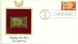 1994 USA Gold Stamp Replica FDC Happy New Year - Ersttagsbelege (FDC)