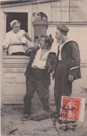 Bg - Cpa Marins En Bordée - Paquet De Mer - Umoristiche