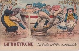 Bg - Cpa Humoristique La Bretagne - La Bolée De Cidre Monumentale - Humor