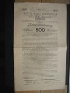 Obligation 1906 BUDAPEST - LA METALLURGIQUE HONGROISE-BELGE - Industrie