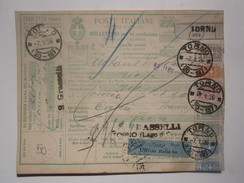 1926 ITALY PARCEL CARD - Paquetes Postales