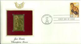 1993 USA Gold Stamp Replica FDC Joe Louis - Ersttagsbelege (FDC)
