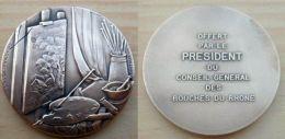 D3-631 Médaille Bronze Signée  Contaux  GM, Gravée Charma ED Valence - Bronzes