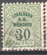 Old Germany Railway Parcel Lokalbahn A.G.Minchen 30pf With Wm.. Used .Trains/Railways/Eisenbahnmarken - Eisenbahnen