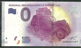Billet Touristique 0 Euro 2017  Mémorial Des Civils Dans La Guerre FALAISE - EURO