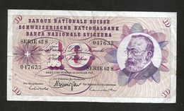 SVIZZERA / SUISSE / SWITZERLAND - NATIONAL BANK - 10 FRANCS / FRANKEN (1969) G. KELLER - Suiza