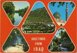 Iraq Postcard Via Macedonia .no Stamp - Iraq