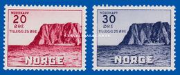 1938 NORWAY NORTH CAPE II U.M. FACIT 184-185 CAP NORD N.S.C. - Ungebraucht