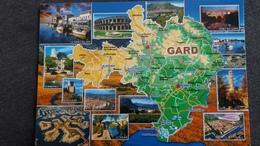 CPM GEOGRAPHIQUE CARTE DEPARTEMENT DU GARD GEO ATLAS - Cartes Géographiques