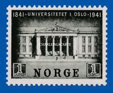 1941 NORWAY CENTENARY OSLO UNIVERSITY U.M. FACIT 265 N.S.C. - Ungebraucht