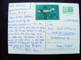 Post Card From Ussr Russia To Abroad 1969 Palne Airplane Avion Kiev Ukraine Monument Shevchenko - Storia Postale