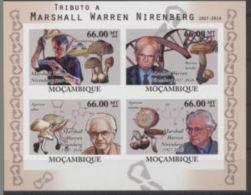 Congo 1963 Nobel Marshall Warren NIRENBERG Mushrooms Champignons Imperf - Prix Nobel