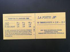 CARNET MARIANNE DE BRIAT 2,30F ROUGE ADHESIF Y&T 2630-C 2 - Neuf, Non Plié, Daté 24.09.90 - Carnets