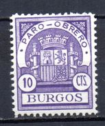 Viñeta  Nº 27  Paro-obrero  Burgos. - Viñetas De La Guerra Civil