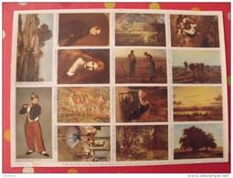Planche De 14 Images Arnaud N° 124. Chefs-d´oeuvre De La Peinture (daumier à Manet) . à Découper Pour Album - Other