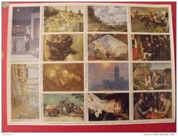 Planche De 14 Images Arnaud N° 125. Chefs-d'oeuvre De La Peinture (degas à Sisley) . à Découper Pour Album - Other
