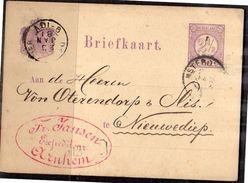 Fr. Jansen Expediteur Arnhem > Von Oterendorp Nieuwediep 1881 BESTELLING 2 KABELJAUWEN PER TREIN! Curieus (BP) - Briefe U. Dokumente