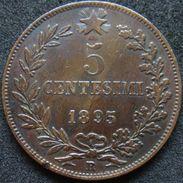 Italy 5 Centesimi 1895 R - 1861-1946: Königreich