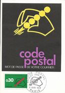 Carte Maximum Fdc,france, Code Postal, 3/6/72 Paris, N°1719 - Cartas Máxima