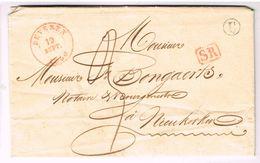 L Càd BEVEREN/1840 + Boîte Rurale U De Calloo Pour Nieukerken - 1830-1849 (Belgique Indépendante)