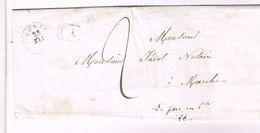 """L 1843 T18 ROCHEFORT + CA + """"2"""" Pur Marche - 1830-1849 (Belgique Indépendante)"""