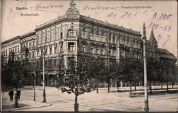! Alte Ansichtskarte Stettin Moltkestraße Ecke Friedrich Carl Straße, 1914 - Pommern