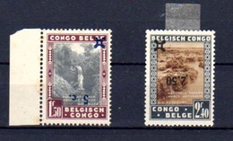 1941     Parcs Nationaux Surchargés, 226 Cu1** Et 227 Cu1*, Cote 52 € - Belgisch-Kongo