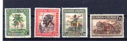 1944    Croix-Rouge,  150 / 153**, Cote 18 €, - Ruanda-Urundi