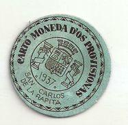 ESPAGNE - 1937 - République Espagnole - CATALOGNE - TARRAGONA - Carto Monéda D'os Provisionas - Monnaie Carton Timbre - Espagne