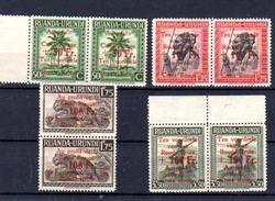 1944    Croix-Rouge,  150 / 153**en Paire, Cote 18 €, - Ruanda-Urundi